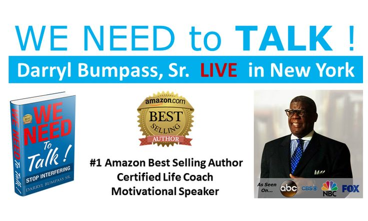 It's time to Stop Intefering with the process and your progress.  Darryl Bumpass, Sr is the #1 bestselling Amazon author, certified life coach, and motivational speaker who speaks in a most approachable manner about what it takes to enjoy the process of self-mastery.