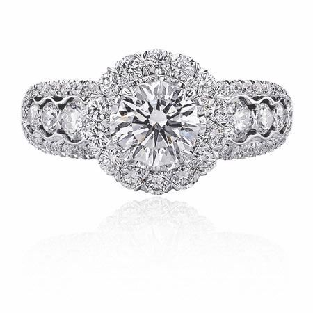 90ct Christopher Designs 18k White Gold Engagement Ring Setting