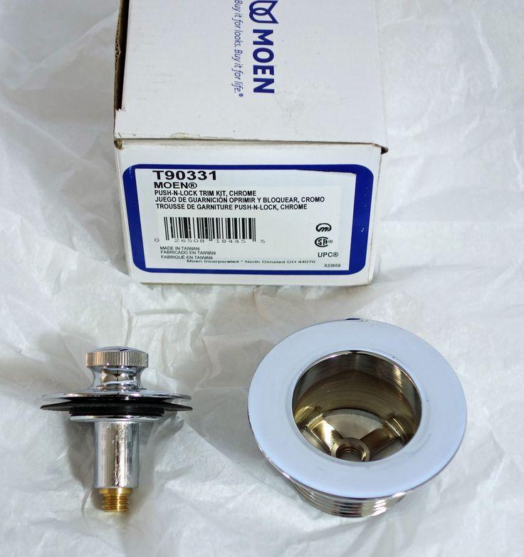 Moen Replacement Chrome Tub Drain - T90331 - Tub Drain Plug Only