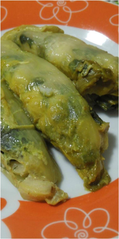 Involtini indivia belga con cavolo nero e rana pescatrice ! #indiviabelga #cavolonero #ranaèescatrice #ricettegustose