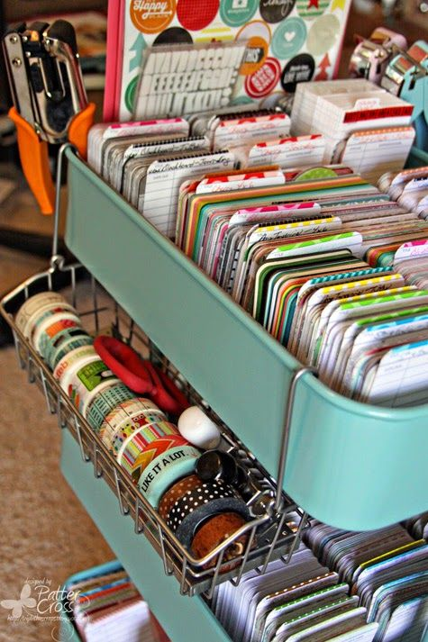 Love the Washington hanging on the side!! Triple the Scraps: Organizational {Friday} IKEA Goodies Means Changes