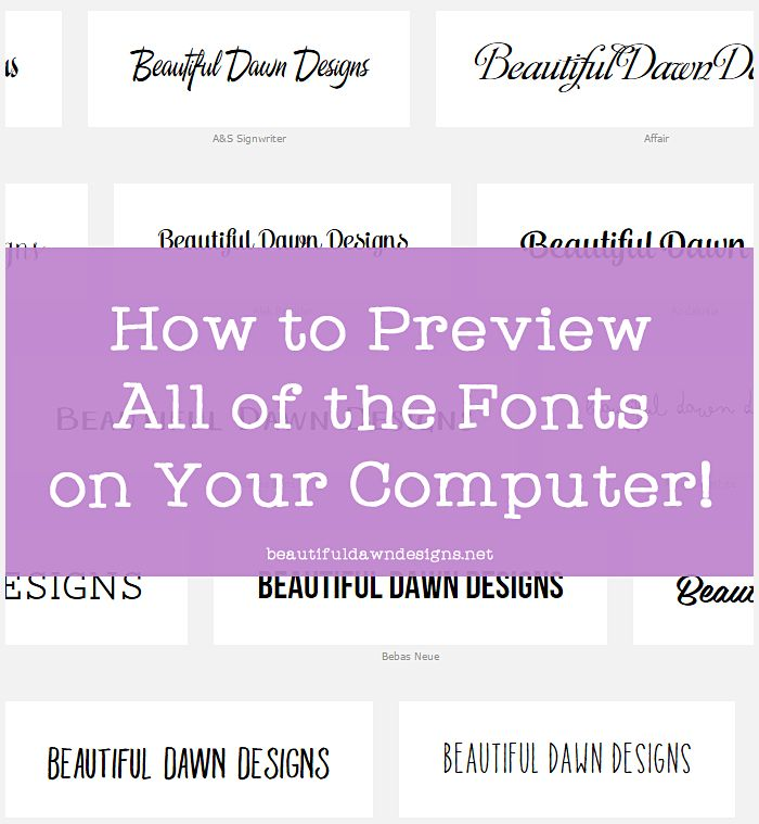 This simple online tool will save you so much time and frustration when searching for that perfect font for your project.