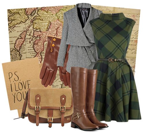 This outfit is inspired by Nancy Drew- The Silent Spy, which takes place in Glasgow, Scotland. I could so see Nancy stylin' this outfit! ;)