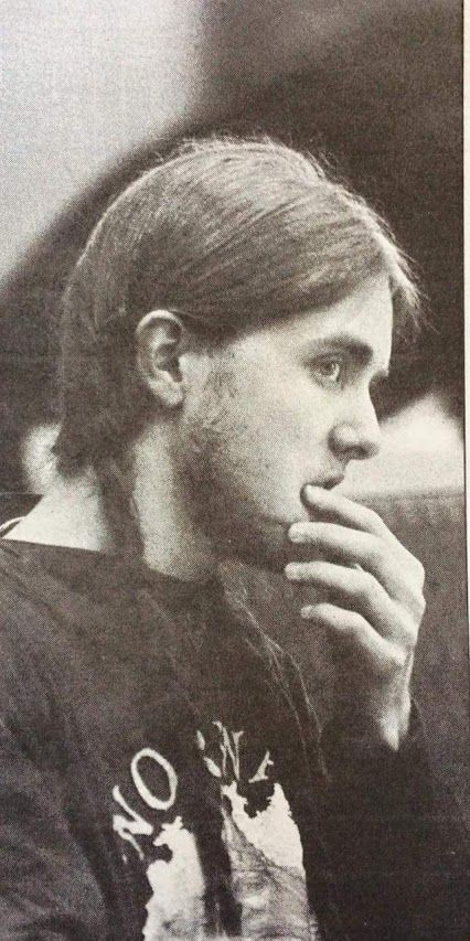 Varg Vikernes at the murder trial of Euronymous in 1994.