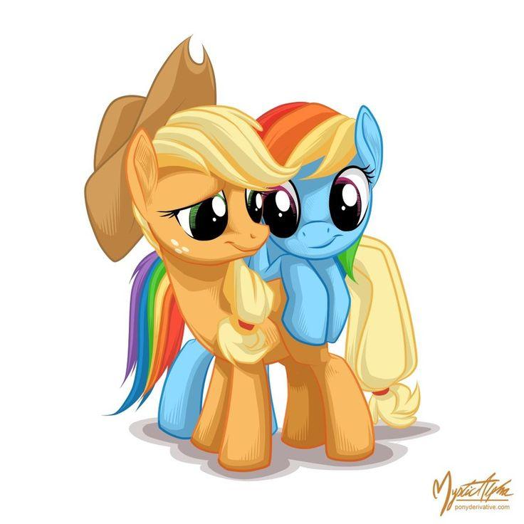 My Little Pony Birthday Quotes: Applejack And Rainbow Dash By *mysticalpha On DeviantART
