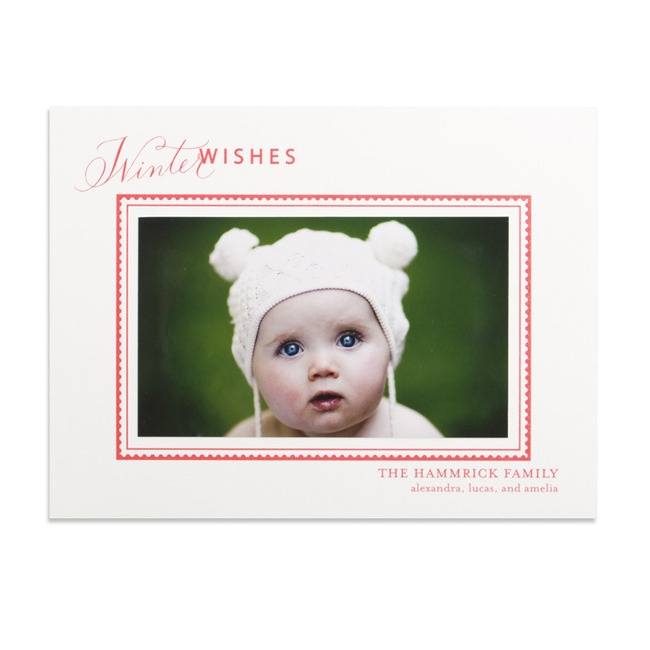 Postage photo mount william arthur holiday cards in th crimson