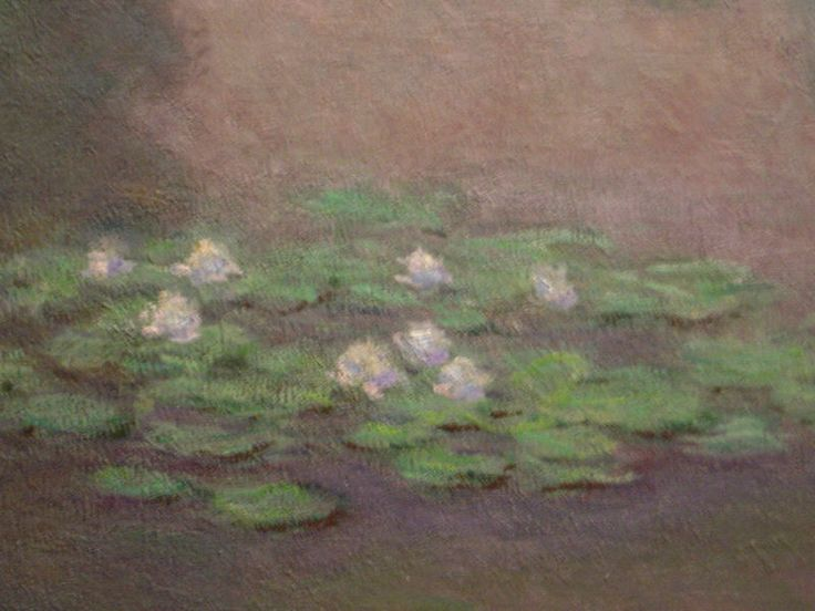 Closeup of Water lily pond, one of 18 views of the pond, 1899, Boston Museum of Fine Arts