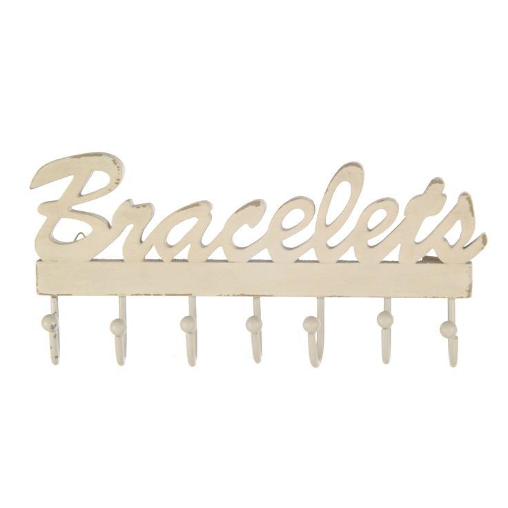 White Bracelet Jewellery Hook. 8€ Buy now here http://www.smallthings.gr/shop/bath-room/bracelet-jewellery-hook/#.VL-5oS53AxI