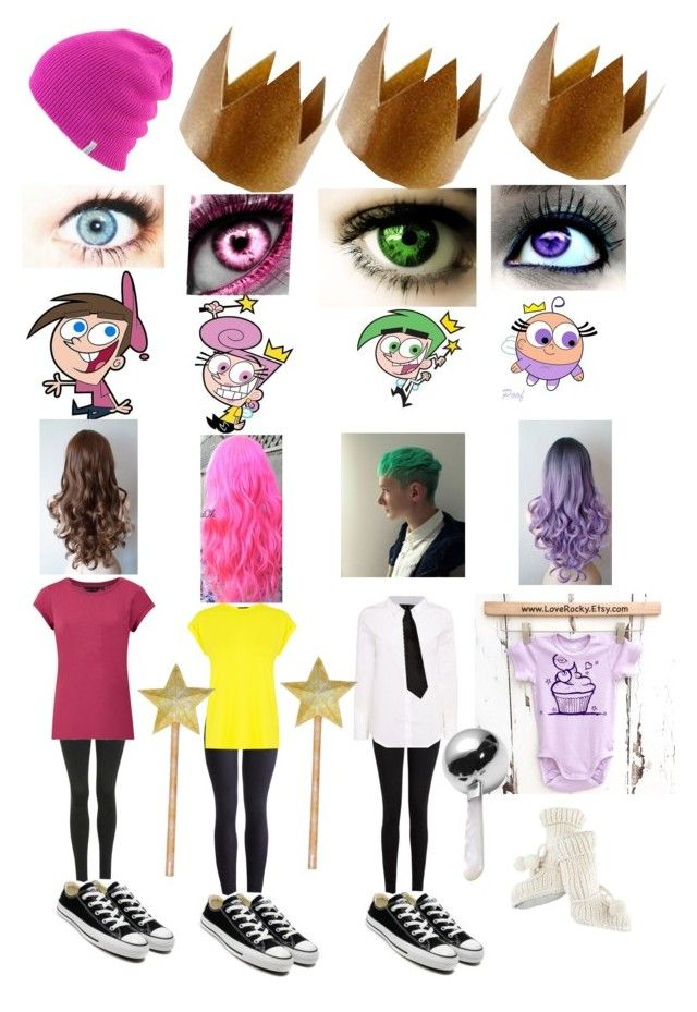 """Fairly odd parents: Timmy Turner,Wanda,Cosmo,Poof"" by oreolover13245 ❤ liked on Polyvore"