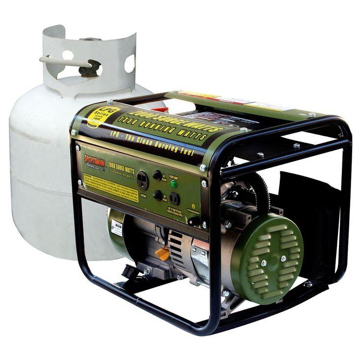 Propane 2000 Watt Portable Dual Fuel Generator - Green - Sportsman