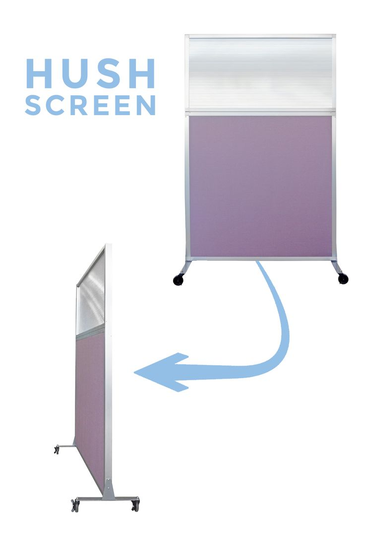 Need a portable partition to roll around the office space? Our Hush Screen includes a top window for visibility and slight sun access. Learn more today at www.versare.com