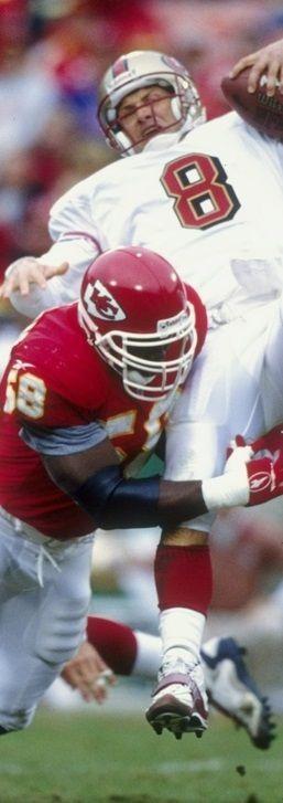 Derrick Thomas  Career G 169 Sk 126.5 Avg 0.75 per game # 16 sack leader all time #chiefs #kc #kcchiefs #sacks #58 #sports #football #NFL: