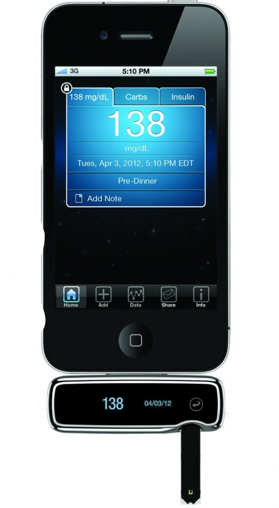 new iPhone with glucose monitor - WOW!