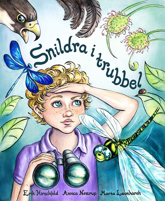 "Book Cover ""Snildra i trubbel"", Illustration by Marta Leonhardt"