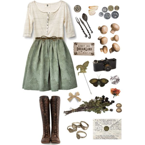 A fashion look from February 2015 featuring henley tee, pocket skirt and knee high laced boots. Browse and shop related looks.