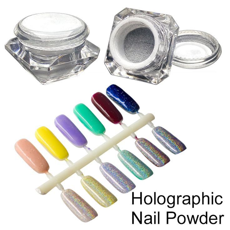 1 Box Holographic Laser Powder Shining Nail Glitter Rainbow Chrome Powder Colorful Laser Silver Pigments Dust