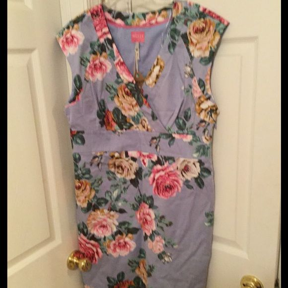 Dress Up for sale is a floral print three quarter dress. All cotton lined. It has zipper on the right side for easy wearing and to take off. Usa size 12.Superior quality garment by Joules! This was purchased from an online store  but never wore this dress. Joules Dresses Midi