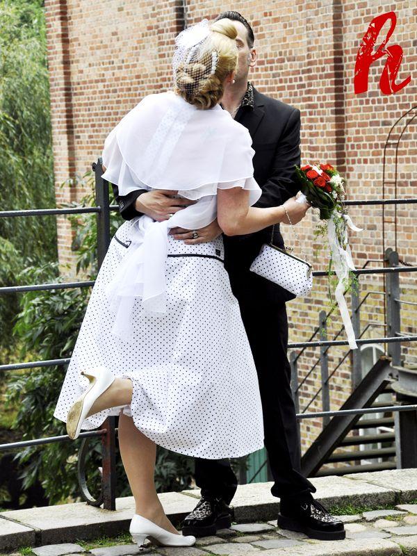 Brauttasche im 50er Jahre Stil mit Polka Dots