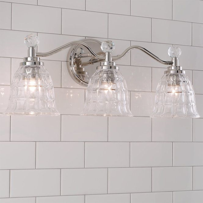 Check Out Faceted Glass Vanity Light 3 Light From Shades Of