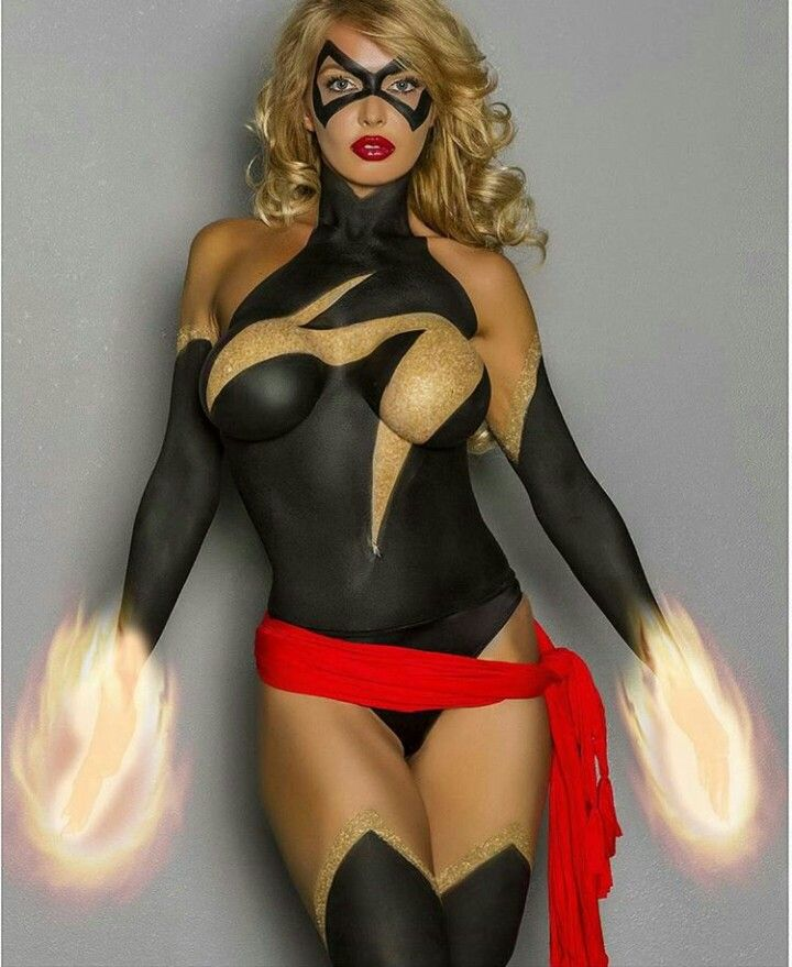 Sexy And Naked Ms Marvel