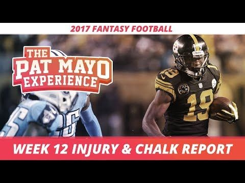 2017 Fantasy Football - Week 12 NFL Injury Report & DraftKings Milly Maker Chalk Picks and Pivots