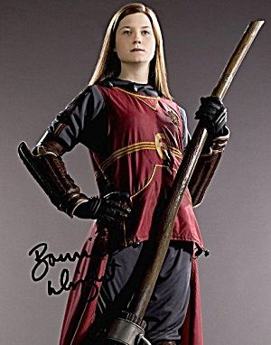 Harry Potter Photo With Bonnie Wright Autograph