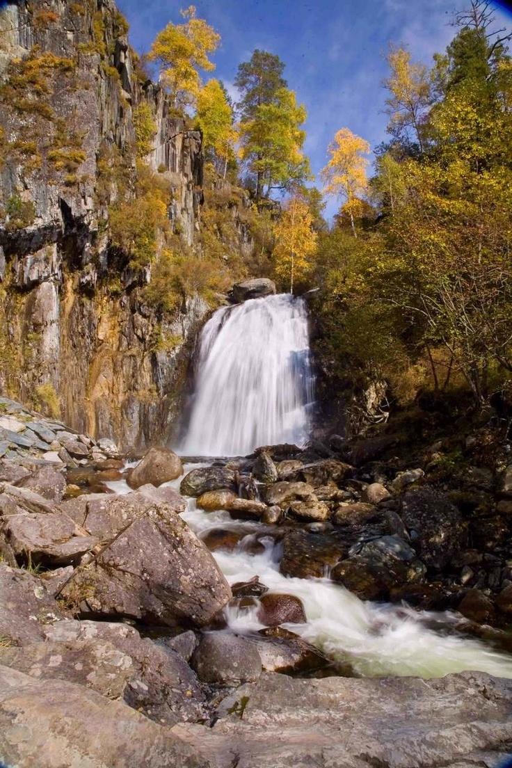 waterfall, Altay, photo: Andrey Kochkin