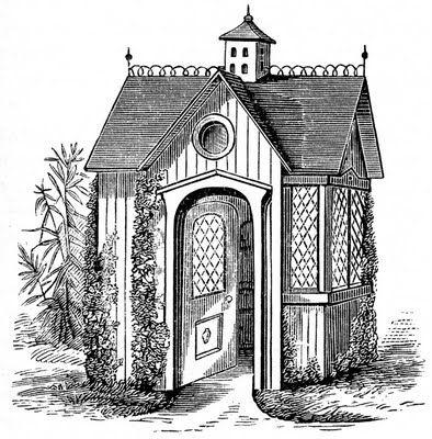 image utilisable pour transfrer sur des objets ou contenants vintage clip art victorian garden