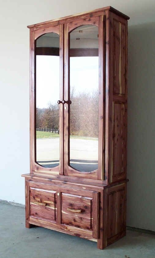 gun cabinet i think the one i will build will be cedar its beautiful