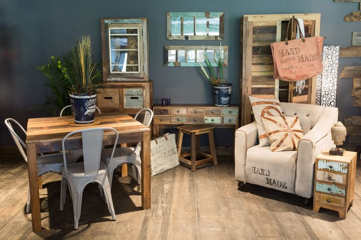 Recycled wood pieces add a rustic feel to any room.