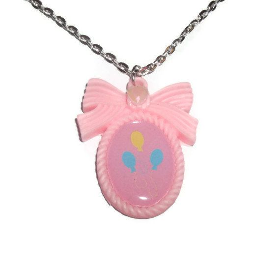 Pinkie Pie Cutie Mark Necklace, Friendship is Magic, Kawaii Pastel Cameo Necklace