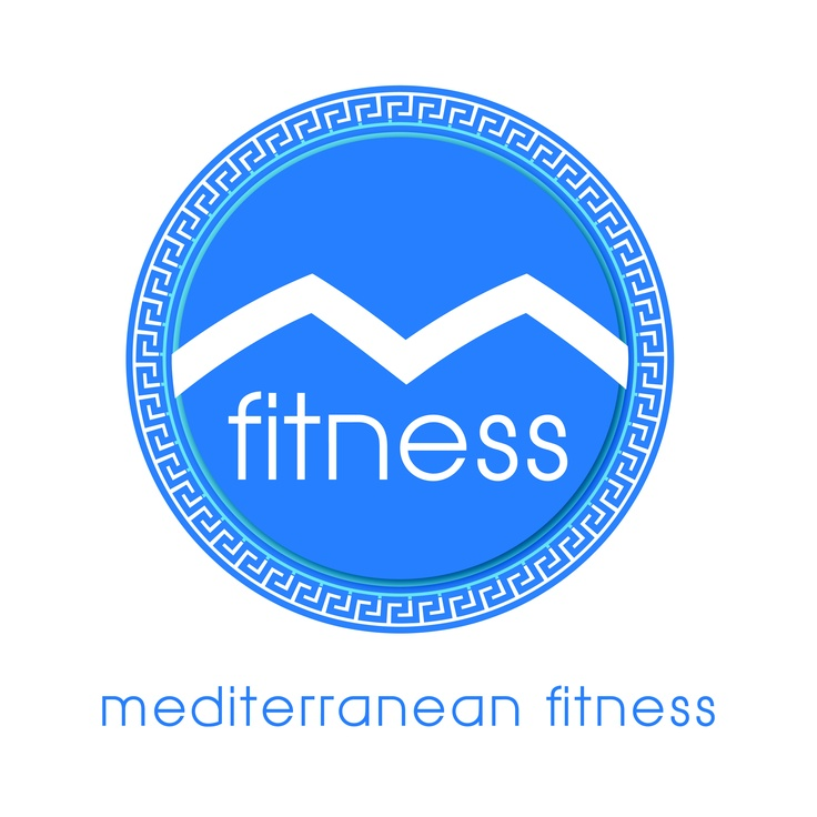 Revised Logo For Grecian Inspired Fitness Center - Includes 2 shades of blue as a metaphor for the sea and white to capture the sun bleached stucco of the local dwellings.