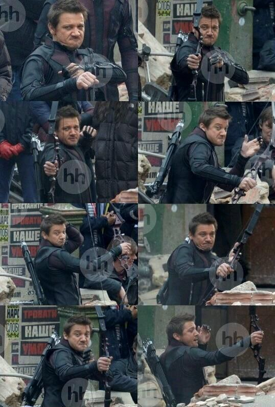 More Avengers: Age of Ultron pictures. Hawkeye still the most fabulous avenger