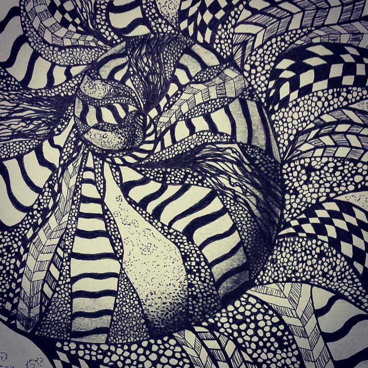 My shell Zentangle (close-up)