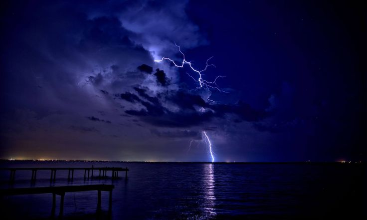 Lightning Over Pensacola. Taken by viewer Troy Beshears.