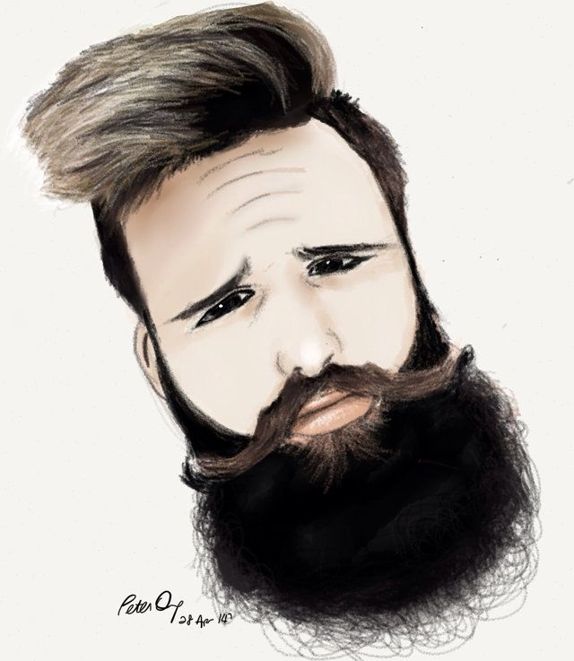 #piece #of #art #beard #sktchy #art #because #bearded #portrait #inspiration #crazy #beautiful #drawing #hand