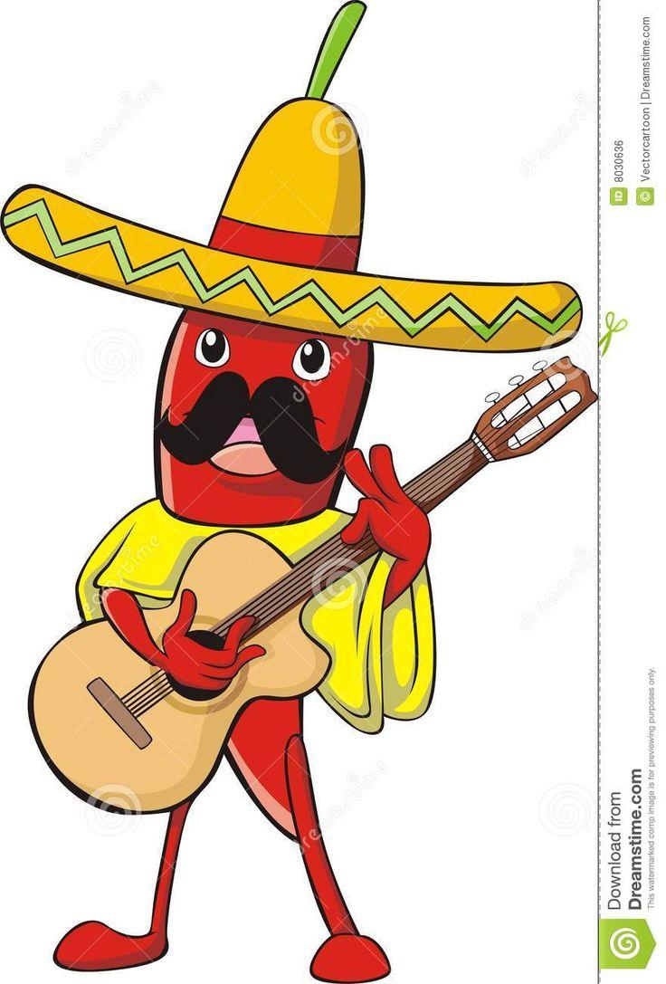 poivron Dans Le Costume Mexicain Image libre de droits - Image ...