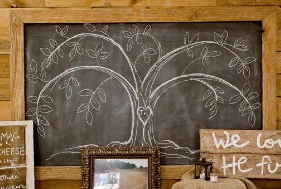 cute chalkboard ideas @Jenny Johnson  a cute tree for you!