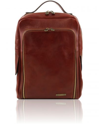 BANGKOK TL14128  Leather laptop backpack - Zaino porta notebook in pelle - Tuscany Leather