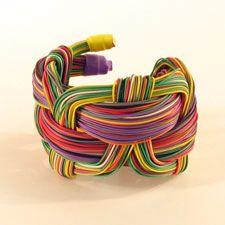 Jono Pandolfi Designs. Telephone wire bracelet