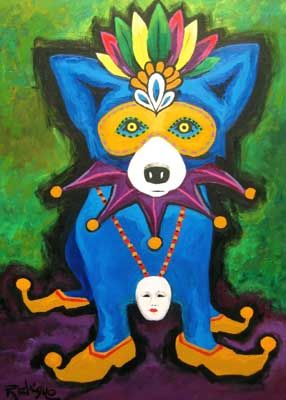 Blue Dog -George Rodrigue this artist is from New Orleans and paints nothing but blue dogs!!  love it!!