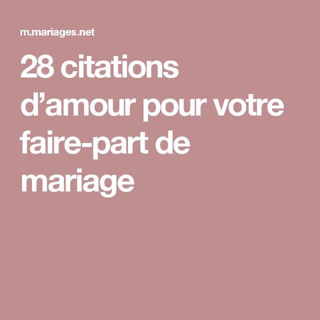 les 25 meilleures id es concernant texte faire part mariage sur pinterest mot de remerciement. Black Bedroom Furniture Sets. Home Design Ideas