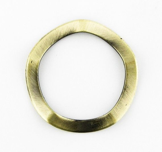 8 pcs 25mm Antique Brass Bronze Round Wavy by FancyGemsandFindings, $7.99