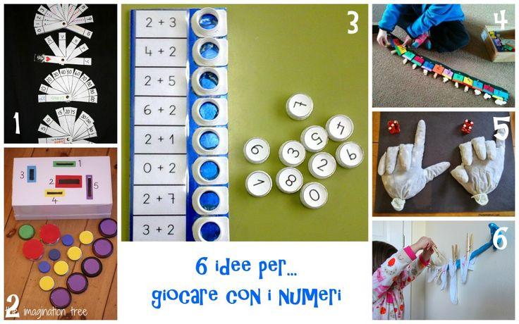 6 idee prese in rete per giocare con i numeri giochi for Idee per cartelloni scuola infanzia