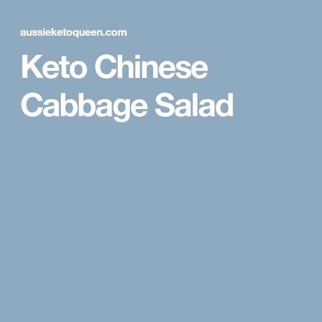 Keto Chinese Cabbage Salad