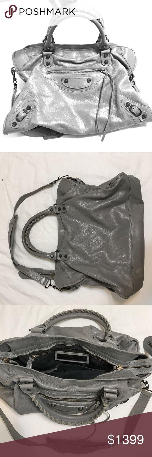 "Balenciaga Classic City Handbag Grey color • Medium Sized Lambskin w/ ""Classic"" Hardware Design  • LIKE NEW CONDITION & Authentic Balenciaga Bags Shoulder Bags"
