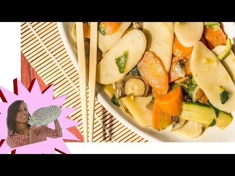 Gnocchi di Riso con Verdure e Salsa di Soia - YouTube
