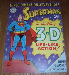 1953 Original SUPERMAN 3-D DC Comics Adventures VINTAGE