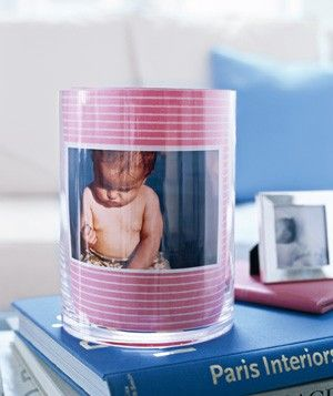 Use a vase for a photo frame