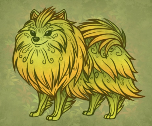 cute sylavari hound from #guildwars2